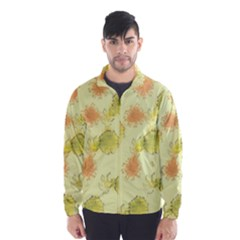 Shabby Floral 1 Wind Breaker (Men)