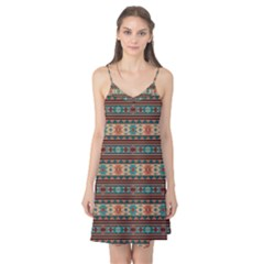 Southwest Design Turquoise and Terracotta Camis Nightgown