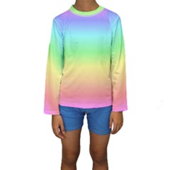 Rainbow Colors Kid s Long Sleeve Swimwear