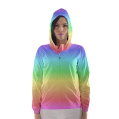Rainbow Colors Hooded Wind Breaker (Women)