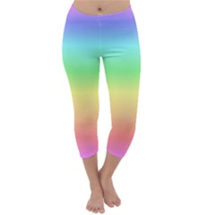 Rainbow Colors Capri Winter Leggings