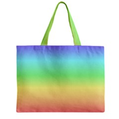 Rainbow Colors Zipper Tiny Tote Bags