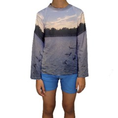 Intercoastal Seagulls 3 Kid s Long Sleeve Swimwear