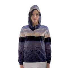 Intercoastal Seagulls 3 Hooded Wind Breaker (women)