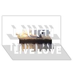 Intercoastal Seagulls 4 Laugh Live Love 3d Greeting Card (8x4)