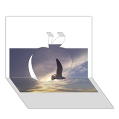 Seagull 1 Apple 3D Greeting Card (7x5)
