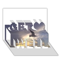 Seagull 1 Get Well 3D Greeting Card (7x5)