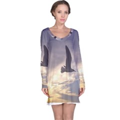 Seagull 1 Long Sleeve Nightdresses