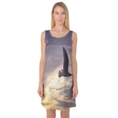 Seagull 1 Sleeveless Satin Nightdresses