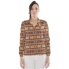 Southwest Design Tan And Rust Wind Breaker (women)