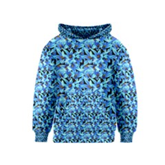 Turquoise Blue Abstract Flower Pattern Kid s Pullover Hoodies