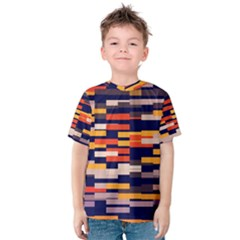 Rectangles in retro colors Kid s Cotton Tee