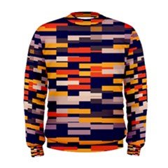 Rectangles in retro colors  Men s Sweatshirt