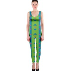 Arrows and stripes pattern OnePiece Catsuit
