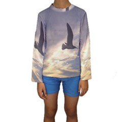 Fly Seagull Kid s Long Sleeve Swimwear