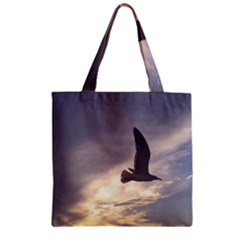 Fly Seagull Zipper Grocery Tote Bags