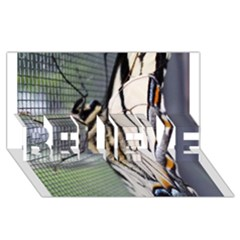 Butterfly 1 Believe 3d Greeting Card (8x4)
