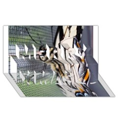Butterfly 1 Merry Xmas 3D Greeting Card (8x4)
