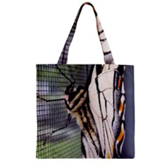 Butterfly 1 Zipper Grocery Tote Bags