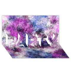 Shabby Floral 2 PARTY 3D Greeting Card (8x4)