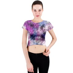Shabby Floral 2 Crew Neck Crop Top
