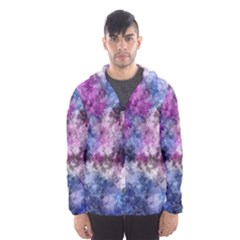 Shabby Floral 2 Hooded Wind Breaker (men)