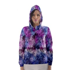 Shabby Floral 2 Hooded Wind Breaker (Women)