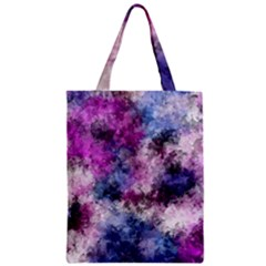 Shabby Floral 2 Zipper Classic Tote Bags