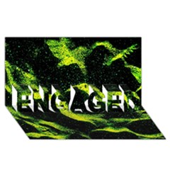 Green Northern Lights ENGAGED 3D Greeting Card (8x4)