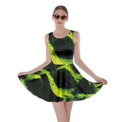 Green Northern Lights Skater Dresses