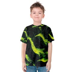 Green Northern Lights Kid s Cotton Tee