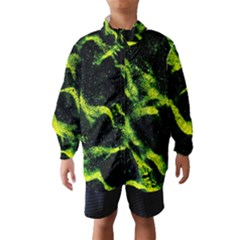 Green Northern Lights Wind Breaker (Kids)