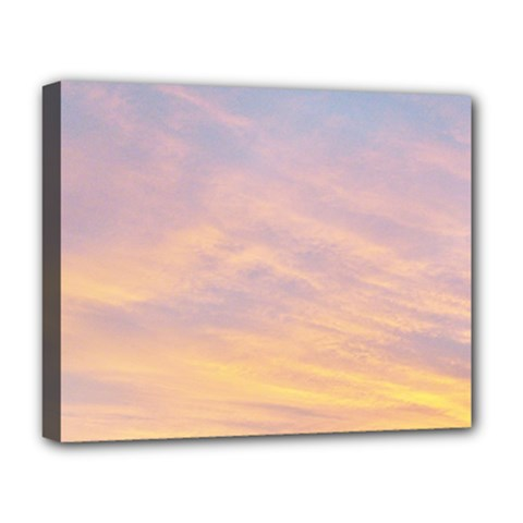 Yellow Blue Pastel Sky Deluxe Canvas 20  x 16