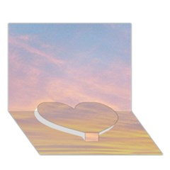 Yellow Blue Pastel Sky Heart Bottom 3d Greeting Card (7x5)