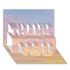 Yellow Blue Pastel Sky Thank You 3d Greeting Card (7x5)
