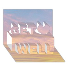 Yellow Blue Pastel Sky Get Well 3D Greeting Card (7x5)