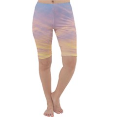 Yellow Blue Pastel Sky Cropped Leggings