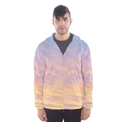 Yellow Blue Pastel Sky Hooded Wind Breaker (Men)