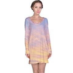 Yellow Blue Pastel Sky Long Sleeve Nightdresses