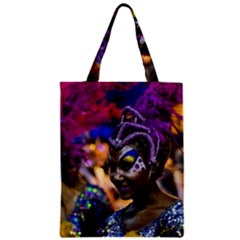 Costumed Attractive Dancer Woman at Carnival Parade of Uruguay Classic Tote Bags