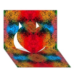 Colorful Goa   Painting Heart 3d Greeting Card (7x5)