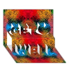 Colorful Goa   Painting Get Well 3D Greeting Card (7x5)