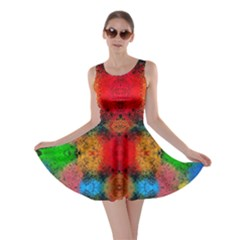Colorful Goa   Painting Skater Dresses