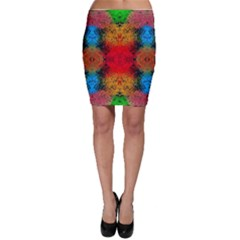 Colorful Goa   Painting Bodycon Skirts