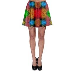 Colorful Goa   Painting Skater Skirts