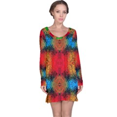 Colorful Goa   Painting Long Sleeve Nightdresses