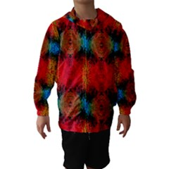 Colorful Goa   Painting Hooded Wind Breaker (Kids)