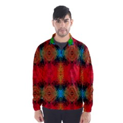 Colorful Goa   Painting Wind Breaker (Men)