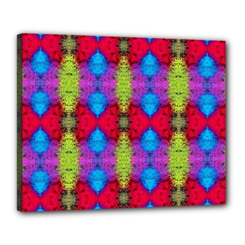 Colorful Painting Goa Pattern Canvas 20  x 16