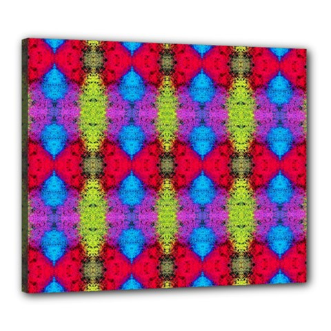 Colorful Painting Goa Pattern Canvas 24  x 20